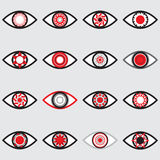 Значок глаза - Стоковые Фото