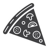 Значок глифа куска пиццы, еда и питье, фаст-фуд иллюстрация штока