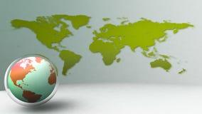 значок глобуса мира 3d Стоковое Изображение