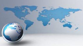 значок глобуса мира 3d Стоковые Изображения RF