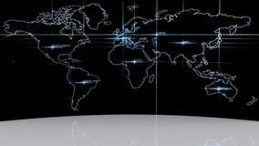 значок глобуса мира 3d Стоковая Фотография