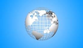 Значок глобуса Стоковое фото RF