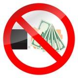 Значок денег наличных денег запрета бесплатная иллюстрация