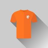 Значок Джерси футбола Голландии плоский Стоковые Фотографии RF