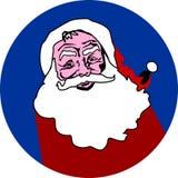 Значок дизайна Санта Клауса плоский иллюстрация вектора