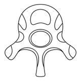 Значок диска позвонка, стиль плана иллюстрация вектора