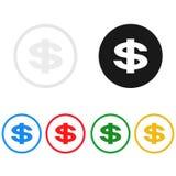Значок денег, поет, иллюстрация Стоковые Изображения RF