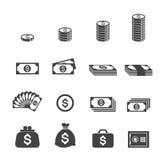 Значок денег Стоковые Изображения