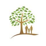 Значок дерева семьи заново родившийся Стоковое Изображение