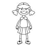 Значок детей Ragdoll изолированный игрушкой Стоковое Изображение