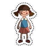 Значок детей Ragdoll изолированный игрушкой Стоковое Фото