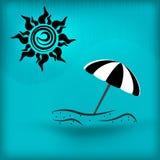 Значок летних каникулов бесплатная иллюстрация