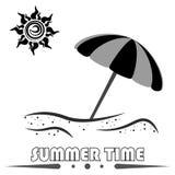Значок летних каникулов иллюстрация штока