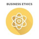 Значок деловой этики в круге иллюстрация штока