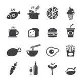 Значок еды Стоковое Изображение RF