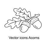 Значок жолудей иллюстрация вектора