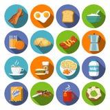 Значок завтрака плоский Стоковая Фотография RF