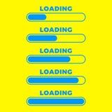 Значок загрузки Изолированный значок, минимальный дизайн бара прогресса Вектор illustrationern, предпосылка иллюстрации стоковое фото
