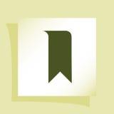 Значок закладки Стоковые Фотографии RF