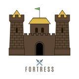Значок замка Стоковые Фотографии RF