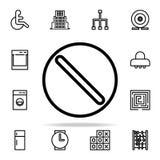 Значок запрета комплект значков сети всеобщий для сети и черни иллюстрация вектора