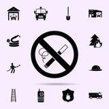 значок запрета на курение r иллюстрация штока