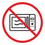 Значок запрещенный микроволной Стоковые Изображения RF