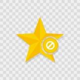 Значок звезды, значок запрета бесплатная иллюстрация