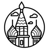 Значок здания Москвы Кремля бесплатная иллюстрация