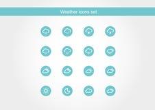 Значок, зеленый значок, погода значка, вектор погоды значка Стоковое Фото