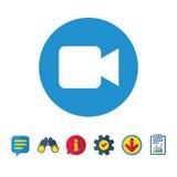 Значок знака видеокамеры Видео- содержимая кнопка Стоковая Фотография
