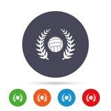 Значок знака волейбола Символ спорта пляжа Стоковое Изображение RF