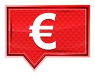 Значок знака евро туманный поднял розовая кнопка знамени иллюстрация вектора