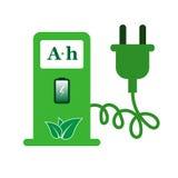 Значок знака зарядной станции электрического автомобиля Стоковые Фотографии RF