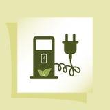 Значок знака зарядной станции электрического автомобиля Стоковое Изображение