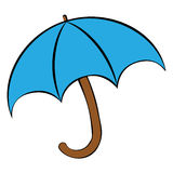 Значок знака зонтика Символ предохранения от дождя Стоковые Фотографии RF