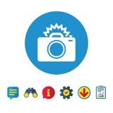 Значок знака камеры фото Символ фото внезапный Стоковая Фотография