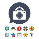 Значок знака камеры фото Символ фото внезапный Стоковые Изображения RF