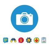 Значок знака камеры фото Символ фото Стоковые Фотографии RF