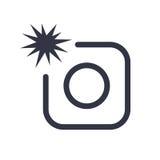 Значок знака камеры фото с вспышкой Символ фото внезапный Современная навигация вебсайта UI Стоковая Фотография RF