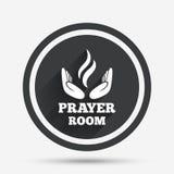 Значок знака комнаты молитве Символ священника вероисповедания иллюстрация вектора