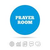 Значок знака комнаты молитве Символ священника вероисповедания иллюстрация штока