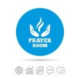 Значок знака комнаты молитве Символ священника вероисповедания бесплатная иллюстрация