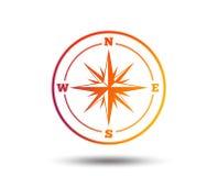 Значок знака компаса Символ навигации Windrose Стоковое Изображение