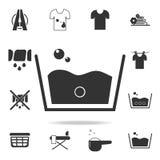 Значок знака мытья мыла Детальный комплект значков прачечной Наградной качественный графический дизайн Один из значков собрания д иллюстрация вектора
