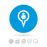 Значок знака потребителя указателя карты Символ отметки Стоковая Фотография