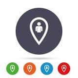 Значок знака потребителя указателя карты Символ отметки Стоковое Изображение RF
