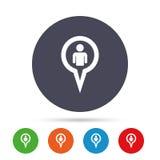 Значок знака потребителя указателя карты Символ отметки Стоковые Фотографии RF