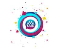 Значок знака пузыря речи такси общественный транспорт бесплатная иллюстрация
