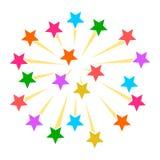 Значок знака ракет фейерверков Стоковое Изображение